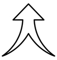 merge arrow up contour icon