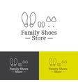 outline family shoes store logotype vector image