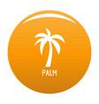 palm tree icon orange vector image