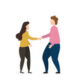 people shake hands partnership and business deals vector image