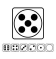playing dice flat icons set for playing vector image