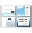 Presentation slide templates Easy editable vector image