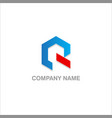 r initial company logo vector image