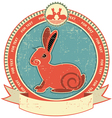rabbit label vector image vector image