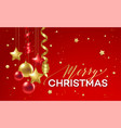 red and golden christmas decoration vector image vector image