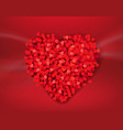 red valentines day banner with heart vector image vector image
