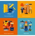 Repair service and renovation icons set vector image
