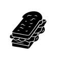 sandwich glyph icon fast food breakfast school vector image