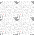 Seamless floral pattern with birds in the nest vector image vector image