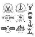 set stylish vintage hipster badge modern vector image vector image