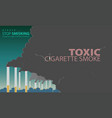 smoke from cigarettes is made pollution vector image vector image