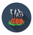 Smoking cutlet icon vector image