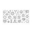 startup outline horizontal vector image vector image