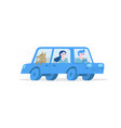 tourists travelling by car vector image vector image