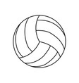 voleyball ball isolated vector image vector image