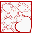 with a pattern of hearts vector image vector image