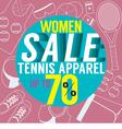 Women Sale Tennis Apparel vector image vector image