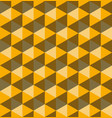 yellow hexagonal pyramids seamless pattern vector image vector image