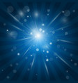 white rays light glow effect - star burst vector image