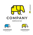 elephant of paper simple logo modern identity vector image