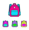 School bag Colorful school bag icon School bag vector image