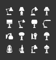 Set icons of lamps vector image
