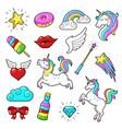unicorns icon set vector image