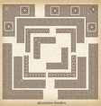 2930 maze cornerSeamless maze border Simple to use vector image vector image