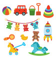a set of toys for children for vector image