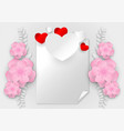 abstract heart shape with copy space on white vector image vector image