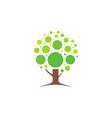 abstract tree logo icon design concept vector image vector image
