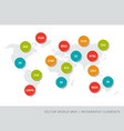 abstract world map with colourful numbers vector image vector image