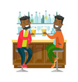 african-american friends drinking beer in a bar vector image vector image
