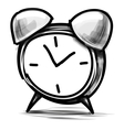 Alarm clock cartoon sketch vector image