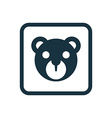 bear toy icon Rounded squares button vector image vector image