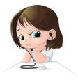 beautiful figure nurse vector image