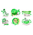 bio fresh organic food labels set natural product vector image vector image