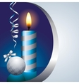 blue candle vector image