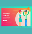 business concept businessman - the winner vector image vector image