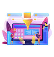 business intelligence dashboard concept vector image