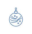 christmas winter ball line icon concept christmas vector image