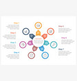 circle infographics template with seven elements vector image vector image