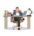 confident successful young businessman at vector image