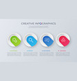 contemporary minimalist infographic design vector image vector image