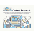 Content marketing research thin line icon design vector image