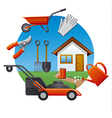 cottage tools icon vector image vector image