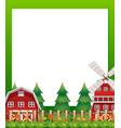 countryside landscape border banner vector image vector image