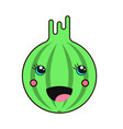 creative image of a gooseberry in kawaii style vector image vector image