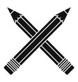 crossed pencil icon simple style vector image