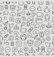 different network app icons seamless pattern vector image vector image